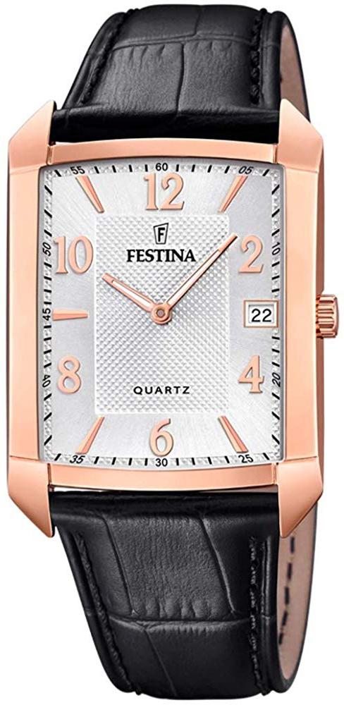 Festina Classic Herrklocka F20465-1 Silverfärgad/Läder