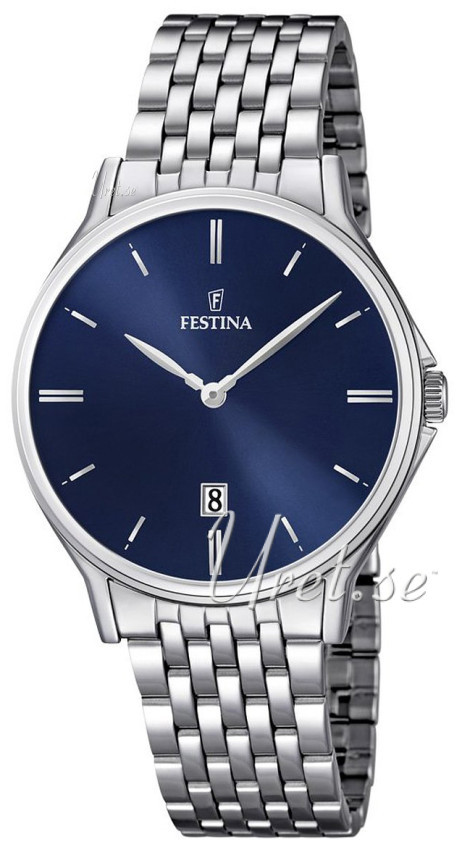 Festina Dress Herrklocka F16744-3 Blå/Stål Ø39 mm