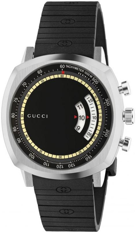 Gucci Grip Herrklocka YA157301 Svart/Gummi