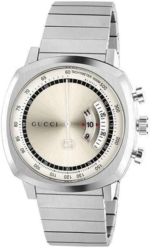 Gucci Grip Herrklocka YA157302 Silverfärgad/Stål