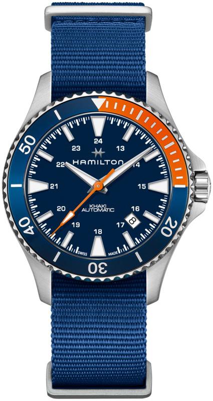 Hamilton Khaki Navy Herrklocka H82365941 Blå/Textil Ø40 mm