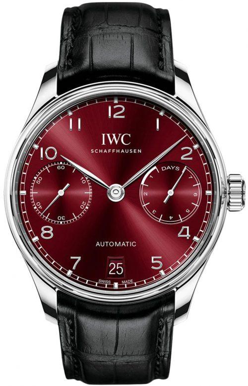 IWC Portugieser Herrklocka IW500714 Röd/Läder Ø42.3 mm