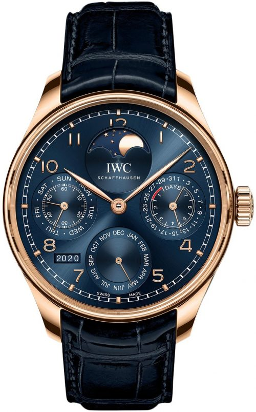IWC Portugieser Herrklocka IW503312 Blå/Läder Ø44.2 mm