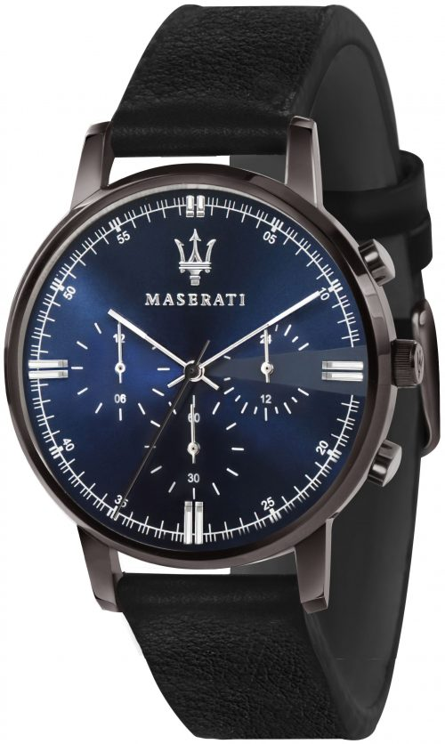 Maserati Eleganza Herrklocka R8871630002 Blå/Läder Ø42 mm