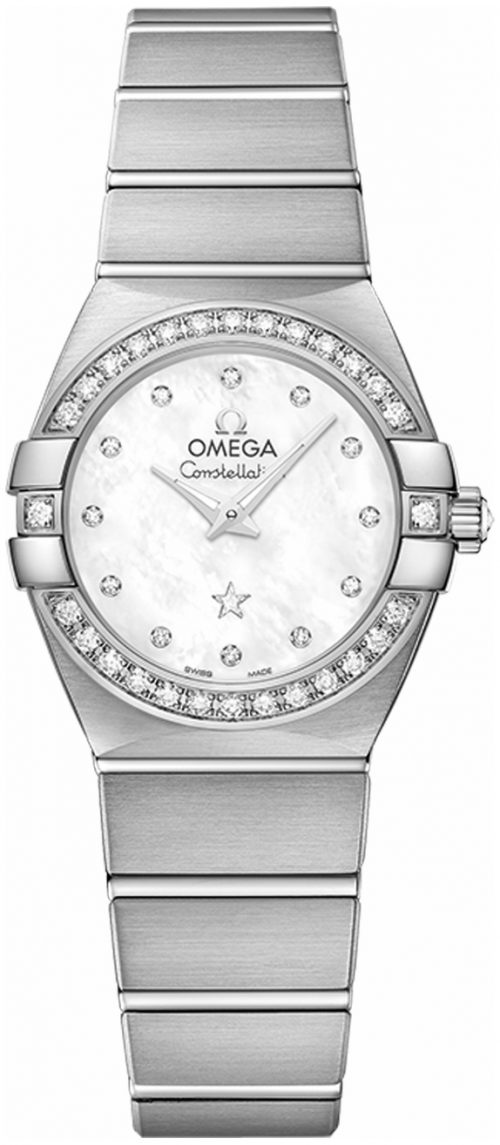 Omega Constellation Quartz 24Mm Damklocka 123.55.24.60.55.017 Vit/18