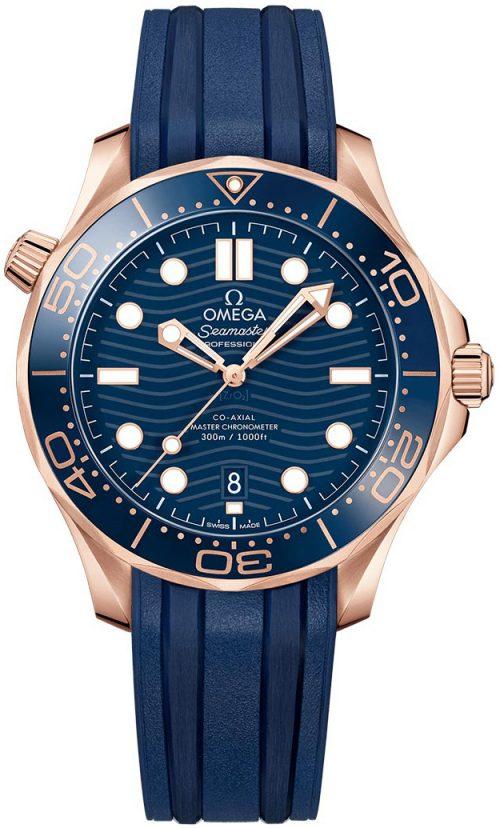 Omega Seamaster Diver 300M Herrklocka 210.62.42.20.03.001 Blå/Gummi