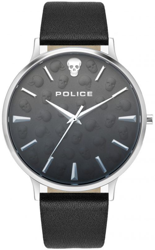 Police Tasman Herrklocka PL16023JS.02 Svart/Läder Ø42 mm