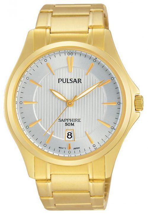Pulsar Dress Herrklocka PS9384X1 Silverfärgad/Gulguldtonat stål
