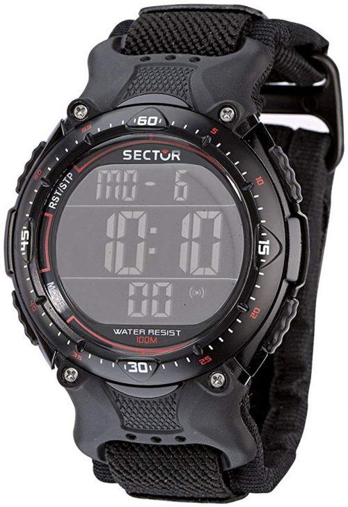 Sector Street Herrklocka R3251172325 LCD/Textil Ø44 mm