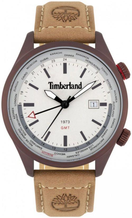 Timberland 99999 Herrklocka TBL15942JSBN.13 Vit/Läder Ø45 mm