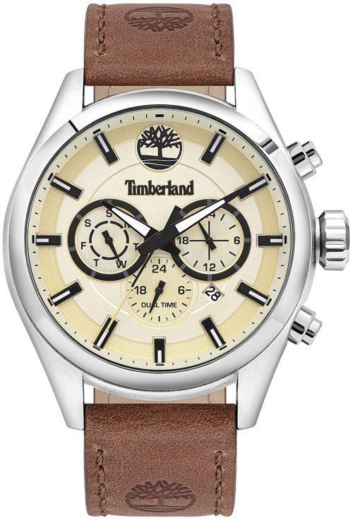 Timberland 99999 Herrklocka TBL16062JYS.14 Beige/Läder Ø45 mm