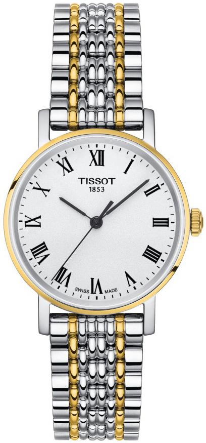 Tissot Everytime Damklocka T109.210.22.033.00 Vit/Gulguldtonat stål