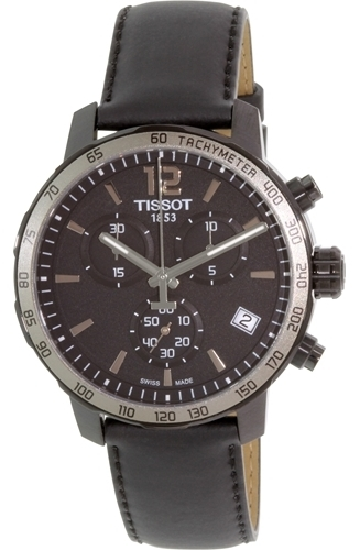 Tissot Tissot T-Sport Herrklocka T095.417.36.057.02 Svart/Läder Ø42