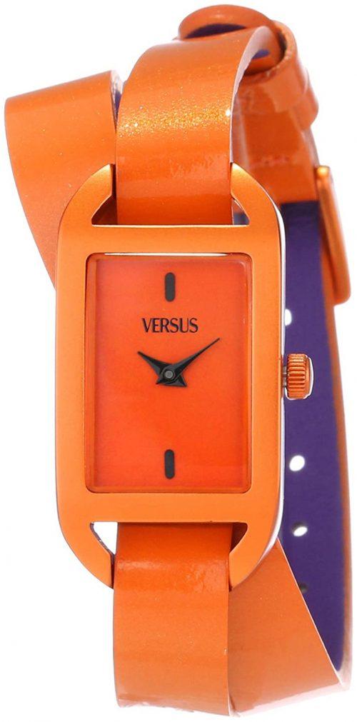 Versus by Versace 99999 Damklocka SGQ020013 Orange/Läder