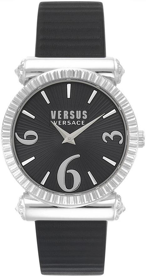 Versus by Versace Republique Damklocka VSP1V0219 Svart/Läder Ø38 mm