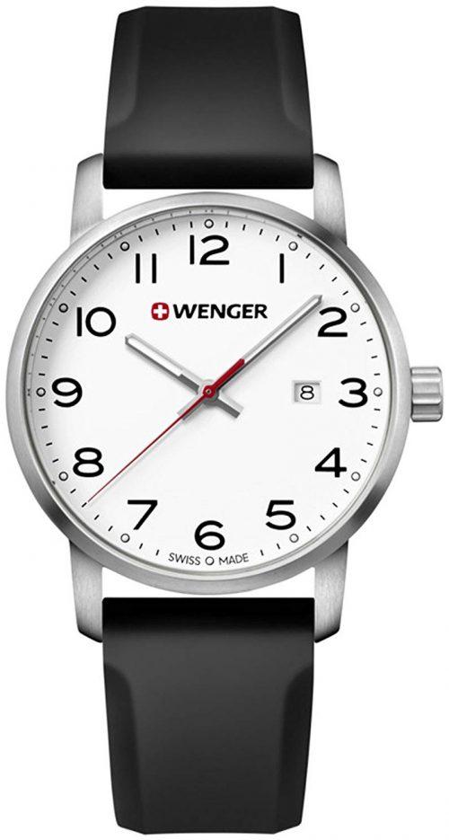 Wenger 99999 Herrklocka 01.1641.103 Vit/Gummi Ø42 mm