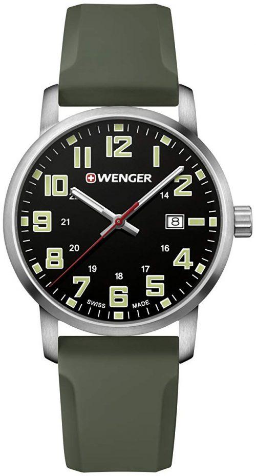 Wenger 99999 Herrklocka 01.1641.112 Svart/Gummi Ø42 mm