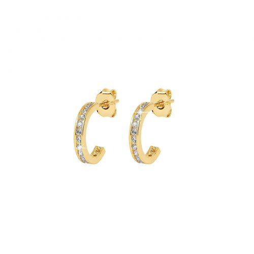18k Guldpläterade örhängen - Halvcreoler 10 mm