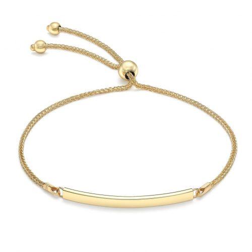 Armband 9K Guld - Bricka