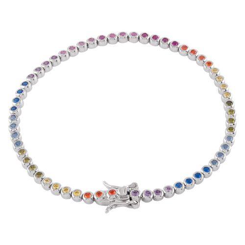 Armband Sterling Silver flerfärgat 3mm