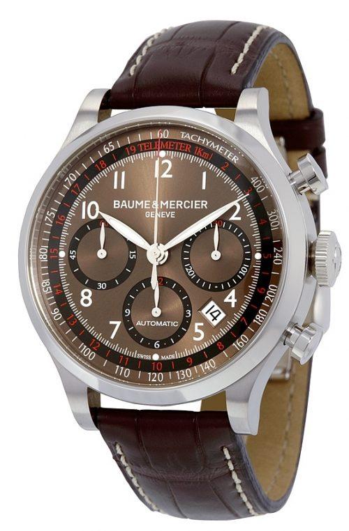 Baume & Mercier CAPELAND Herrklocka MOA10083 Brun/Läder Ø42 mm