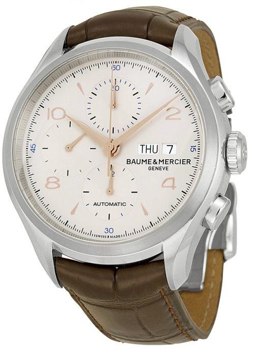 Baume & Mercier Clifton Herrklocka M0A10129 Silverfärgad/Läder