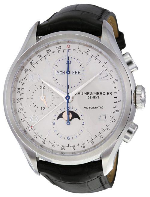 Baume & Mercier Clifton Herrklocka MOA10278 Silverfärgad/Läder
