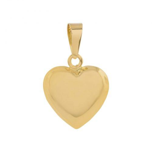 Berlock 18k guld - Bitsäkert Hjärta 12 mm