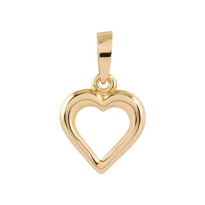 Berlock 18k guld - hjärta 9mm