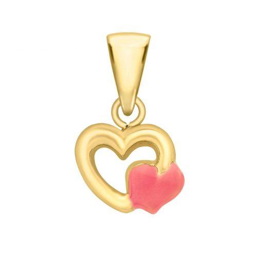 Berlock 9K Guld - 2 hjärtan