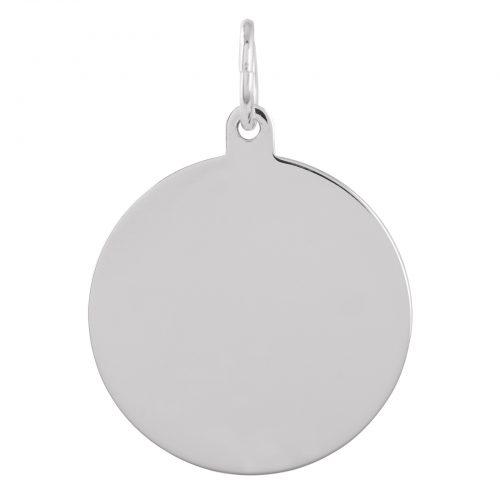Berlock Silver -Blankt hänge 18 mm