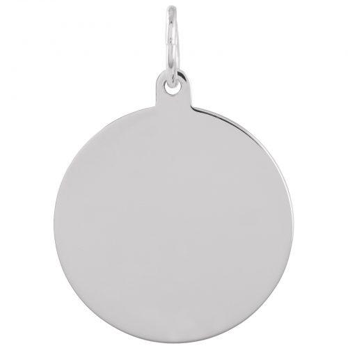 Berlock Silver -Blankt hänge 20 mm