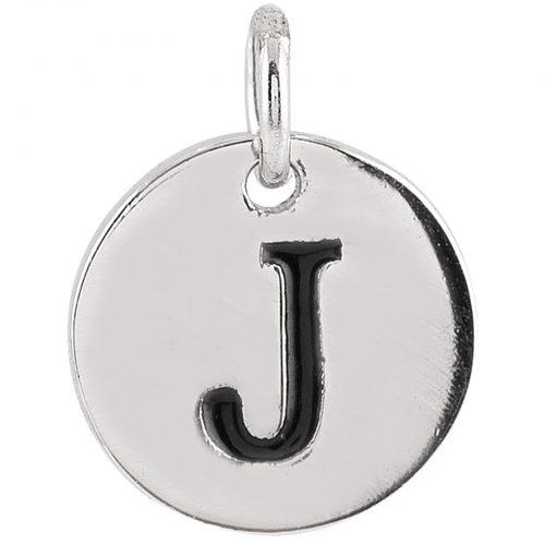 Berlock Silver -Bokstav J 10mm