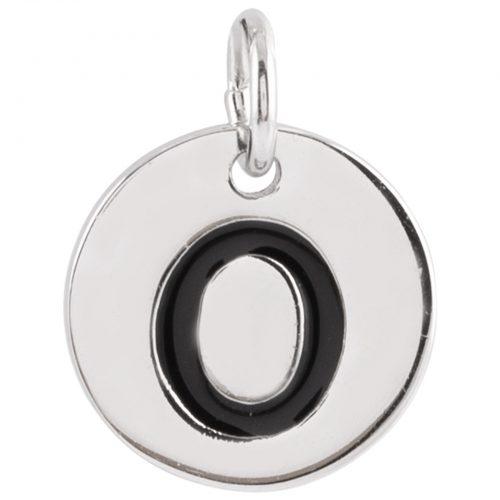 Berlock Silver -Bokstav O 10mm