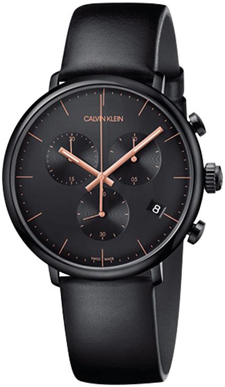 Calvin Klein 99999 Herrklocka K8M274CB Svart/Läder Ø43 mm
