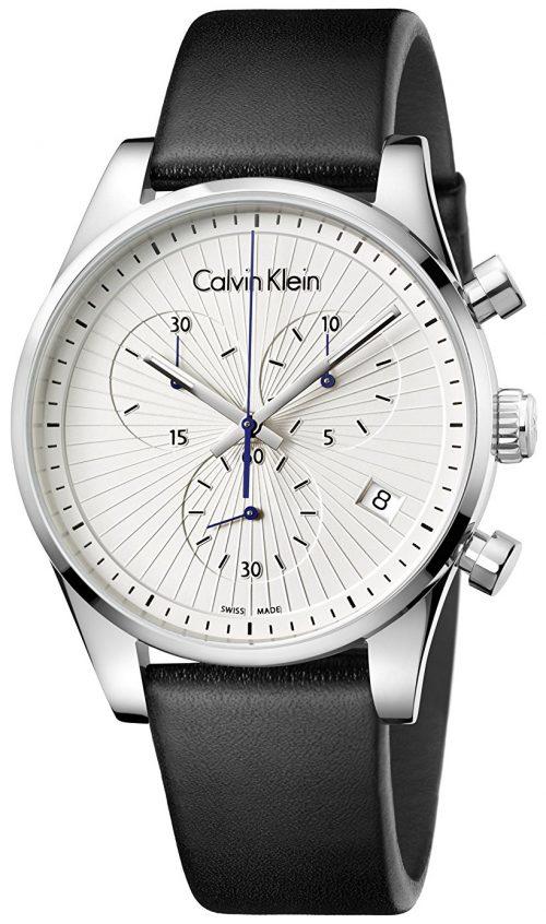Calvin Klein 99999 Herrklocka K8S271C6 Silverfärgad/Läder Ø42 mm