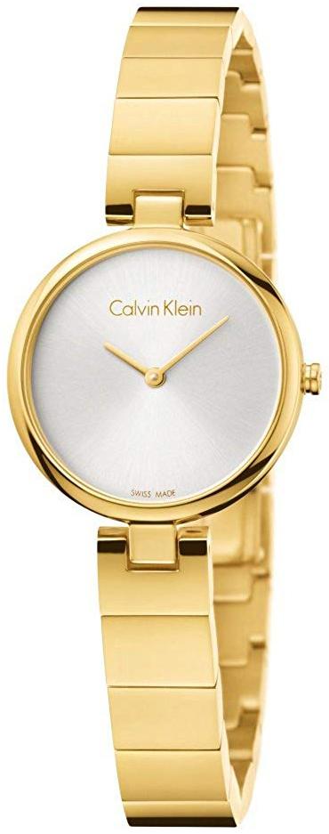 Calvin Klein Authentic Damklocka K8G23546 Silverfärgad/Gulguldtonat