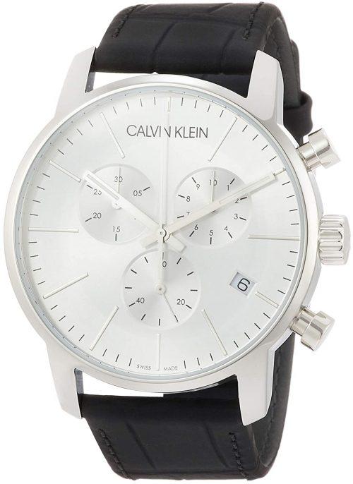 Calvin Klein City Herrklocka K2G271C6 Silverfärgad/Läder Ø43 mm