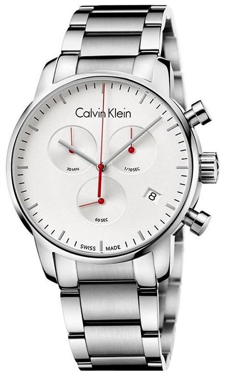 Calvin Klein City Herrklocka K2G271Z6 Silverfärgad/Stål Ø43 mm