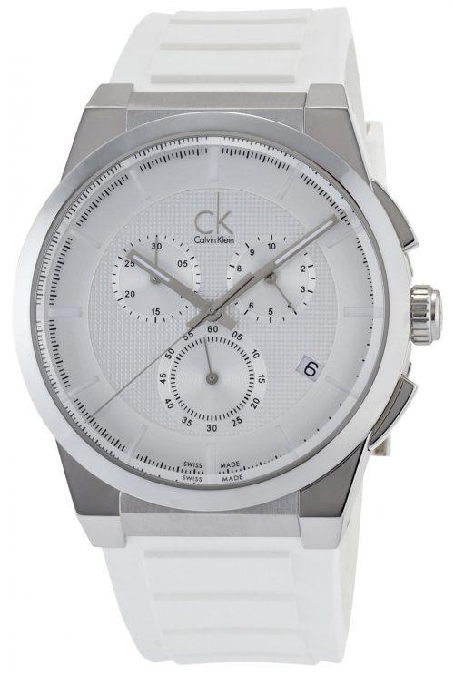 Calvin Klein Dart Herrklocka K2S371L6 Silverfärgad/Gummi Ø45 mm