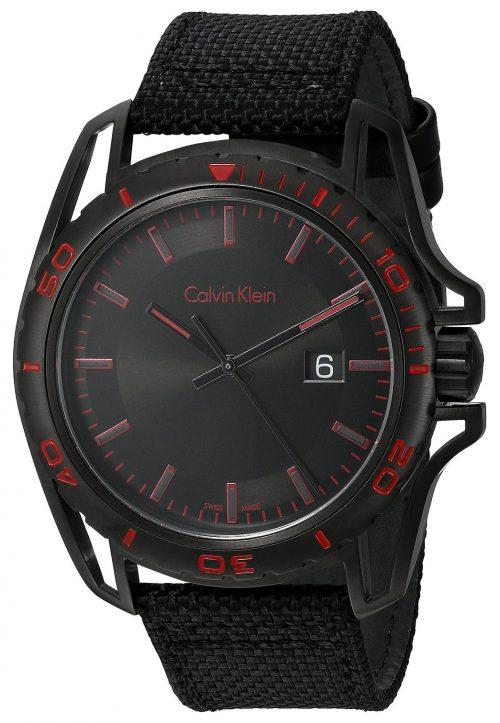 Calvin Klein Earth Herrklocka K5Y31ZB1 Svart/Läder Ø44 mm