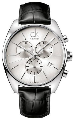 Calvin Klein Exchange Herrklocka K2F27120 Silverfärgad/Läder Ø45 mm