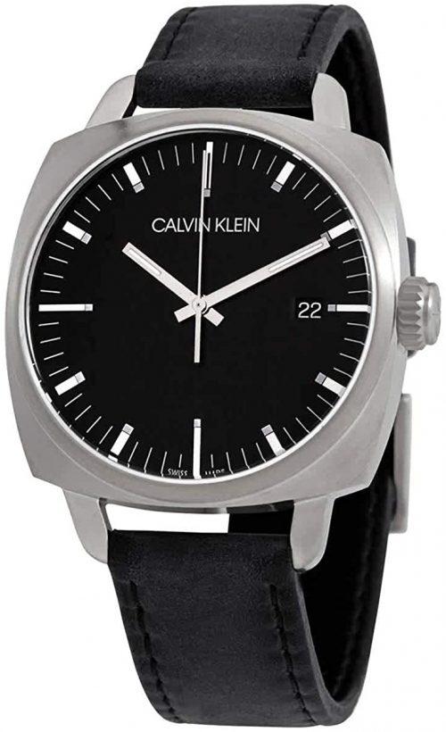 Calvin Klein Fraternity Herrklocka K9N111C1 Svart/Läder