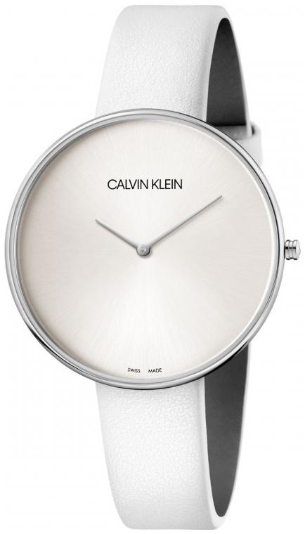 Calvin Klein Full Moon Damklocka K8Y231L6 Silverfärgad/Läder Ø42 mm