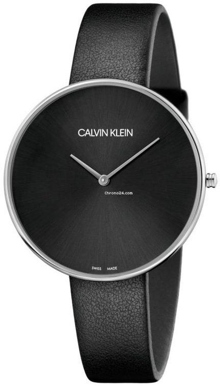 Calvin Klein Full Moon Herrklocka K8Y231C1 Svart/Läder Ø42 mm