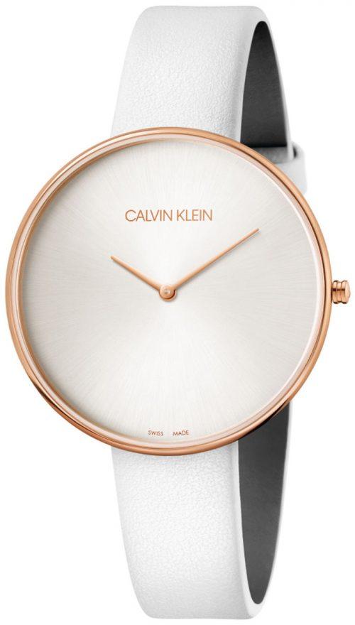 Calvin Klein Full Moon Herrklocka K8Y236L6 Silverfärgad/Läder Ø42