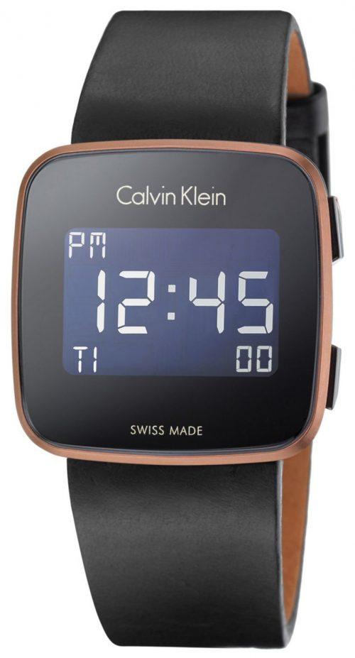 Calvin Klein Future Herrklocka K5C11YC1 LCD/Läder