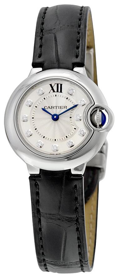 Cartier Ballon Blue Damklocka W4BB0008 Silverfärgad/Läder Ø28 mm