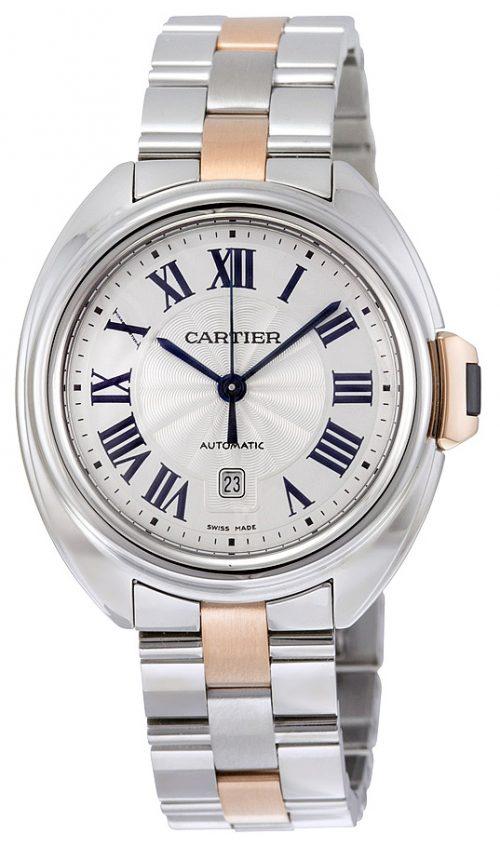 Cartier Calibre De Cartier Damklocka W2CL0004 Silverfärgad/18 karat