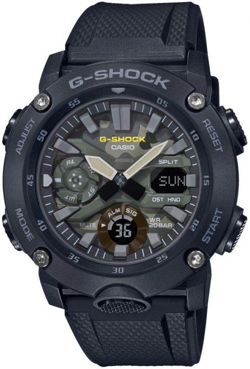 Casio G-Shock Herrklocka GA-2000SU-1AER Grön/Resinplast Ø45 mm